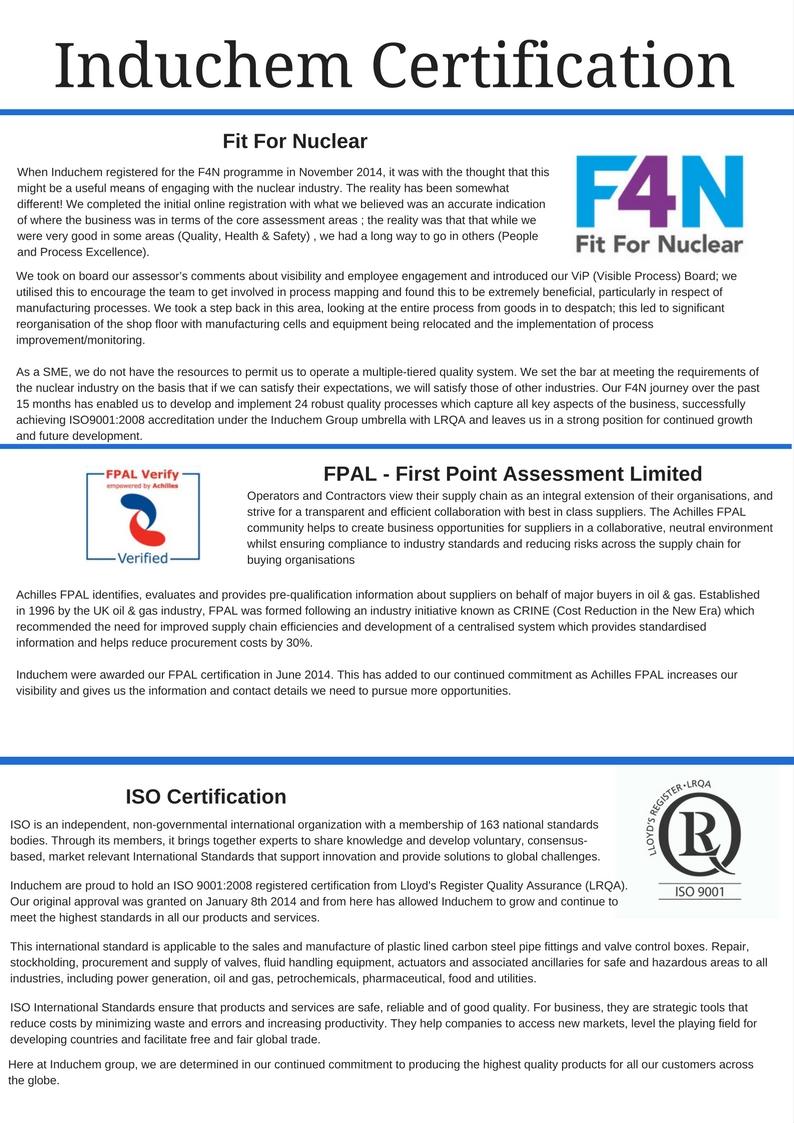 Induchem Certification